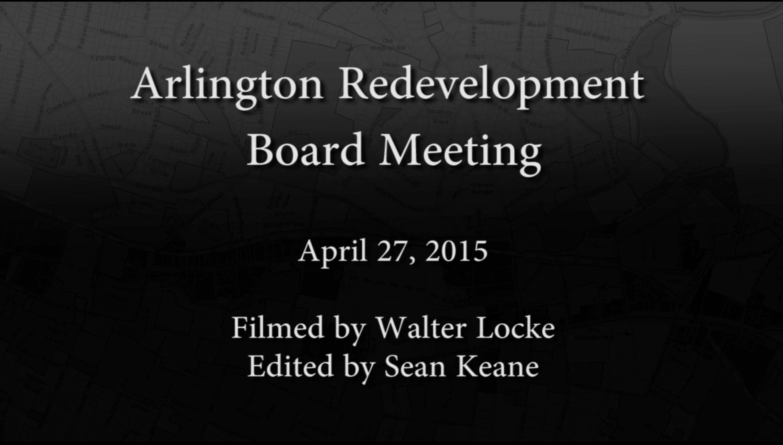 Redevelopment Board Meeting – April 27, 2015