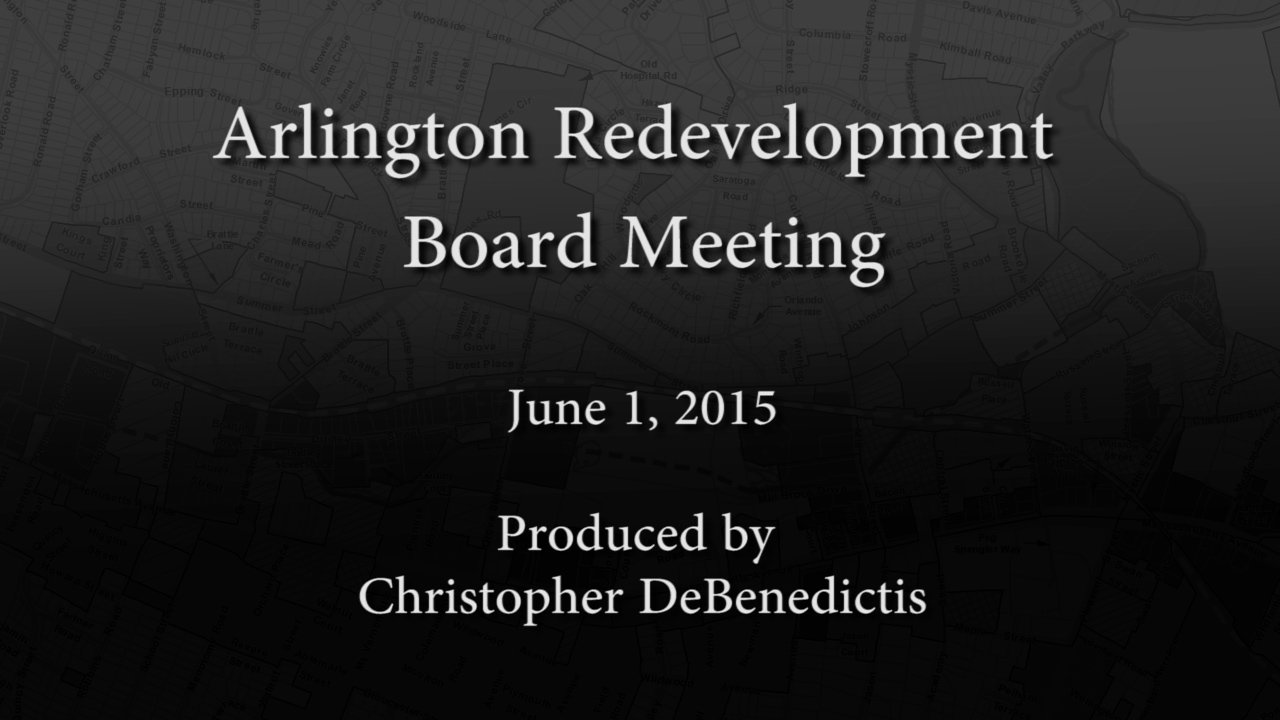 Redevelopment Board Meeting – June 1, 2015
