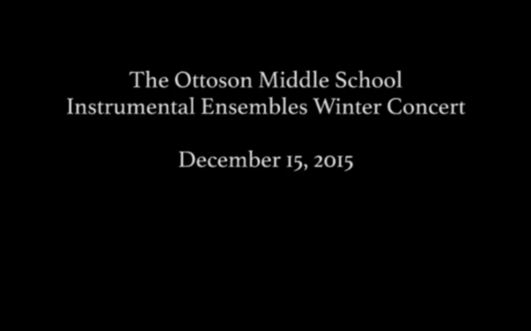 OMS Instrumental Ensembles Winter Concert 2015