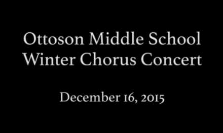 Ottoson Middle School Winter Chorus Concert 2015