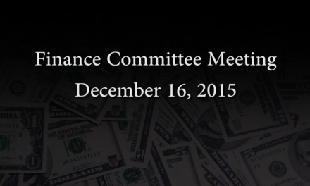 Finance Committee Meeting – December 16, 2015