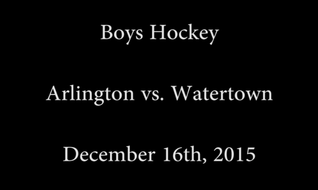 AHS Varsity Boys Hockey vs Watertown – December 16, 2015