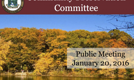 Community Preservation Committee Public Meeting – January 20, 2016