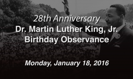 Dr. Martin Luther King, Jr. Birthday Observance 2016