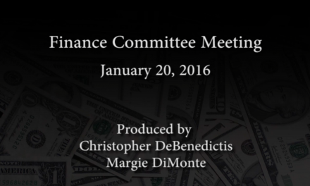 Finance Committee Meeting – January 20, 2016