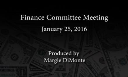 Finance Committee Meeting – January 25, 2016
