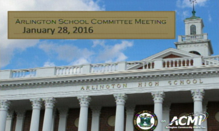 School Committee Meeting – January 28, 2016