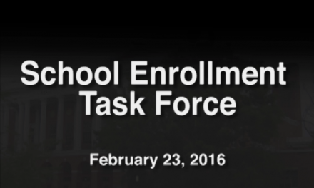 School Enrollment Task Force – February 23, 2016