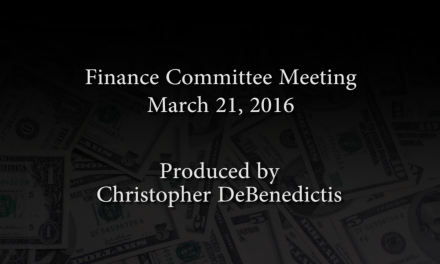 Finance Committee Meeting – March 21, 2016