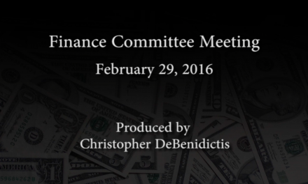 Finance Committee Meeting – February 29, 2016
