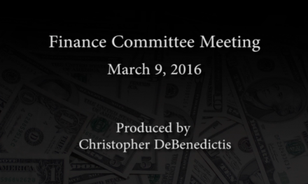 Finance Committee Meeting – March 9, 2016