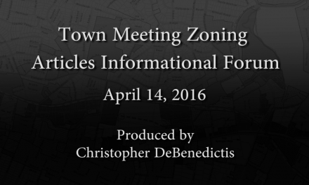 Town Meeting Zoning Articles Informational Forum – April 14, 2016