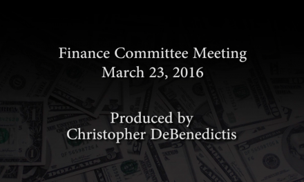 Finance Committee Meeting – March 23, 2016
