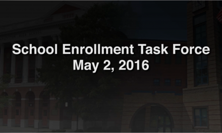 School Enrollment Task Force – May 2, 2016