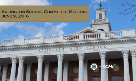 School Committee Meeting – June 9, 2016