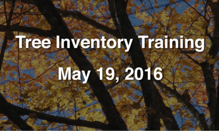 Tree Inventory Training – May 16, 2016