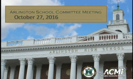 School Committee Meeting – October 27, 2016