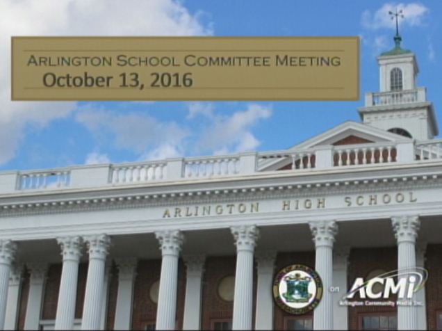 School Committee Meeting – October 13, 2016