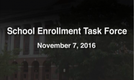 School Enrollment Taskforce – November 7, 2016