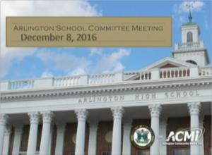 School Committee Meeting – December 8, 2016
