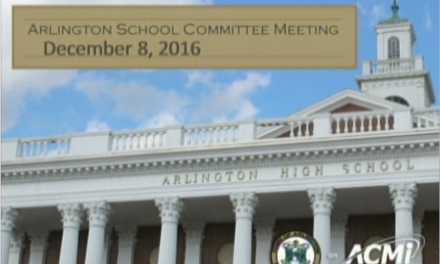 School Committee Meeting – December 8, 2016