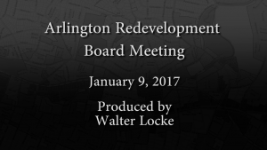 Redevelopment Board Meeting – January 9, 2017