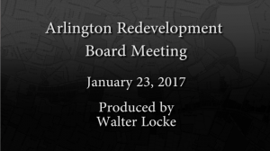 Redevelopment Board Meeting – January 23, 2017