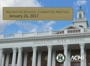 School Committee Meeting – January 26, 2017