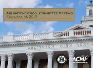 School Committee Meeting – February 14, 2017