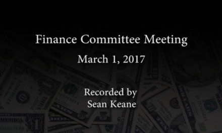 Finance Committee – March 1, 2017