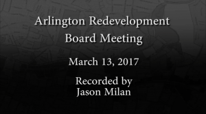 Redevelopment Board Meeting – March 13, 2017