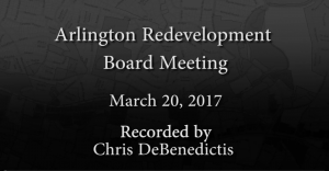 Redevelopment Board Meeting – March 20, 2017