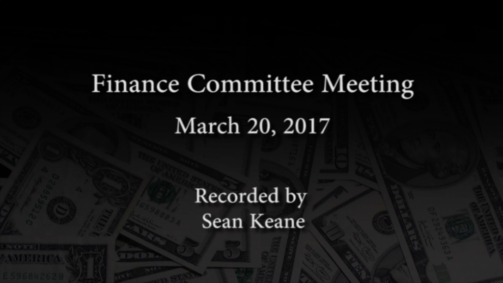 Finance Committee – March 20, 2017