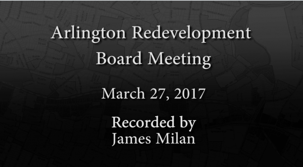 Redevelopment Board Meeting – March 27, 2017