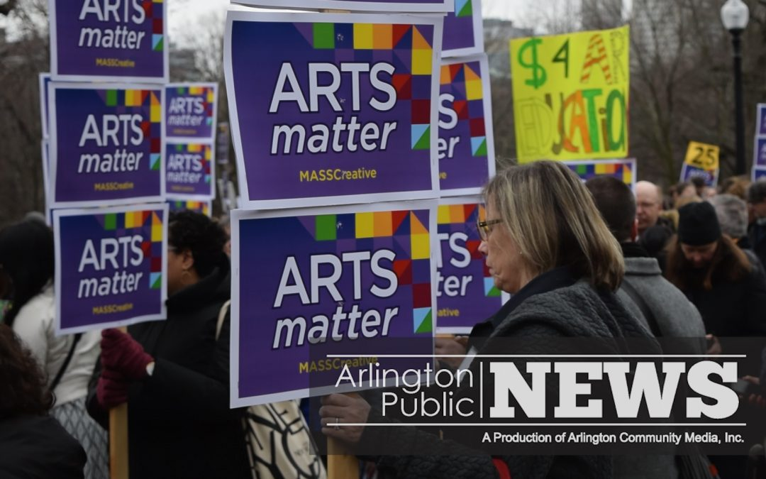 Arlington Well Represented at Beacon Hill March for the Arts