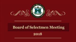 Selectmen Meeting – July 26, 2018