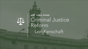 Lori Kenschaft on Criminal Justice Reform