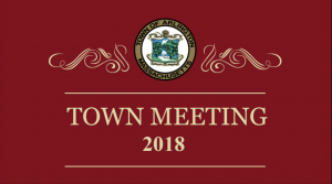 Special Town Meeting – February 12, 2018