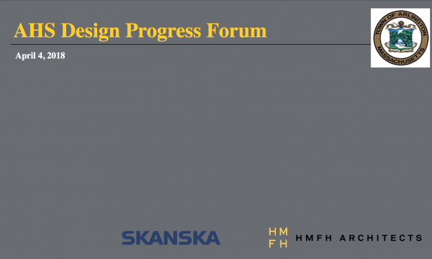 AHS Building Design Progress Forum – April 4, 2018