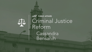 Cassandra Bensahih on Criminal Justice Reform