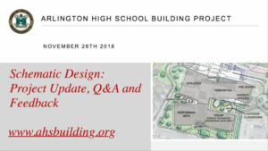 AHS Building Committee Community Forum – November 28, 2018