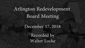 Redevelopment Board Meeting – December 17, 2018