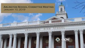 School Committee Meeting – January 10, 2019