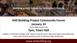 AHS Building Project Community Forum – LIVE
