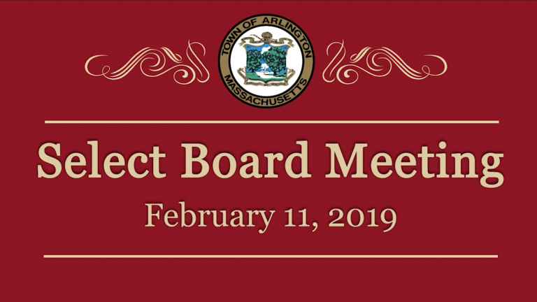Select Board Meeting – February 11, 2019