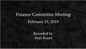 Finance Committee Meeting – February 13, 2019