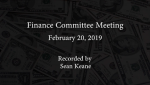 Finance Committee Meeting – February 20, 2019