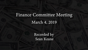 Finance Committee Meeting – March 4, 2019