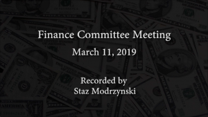 Finance Committee Meeting – March 11, 2019