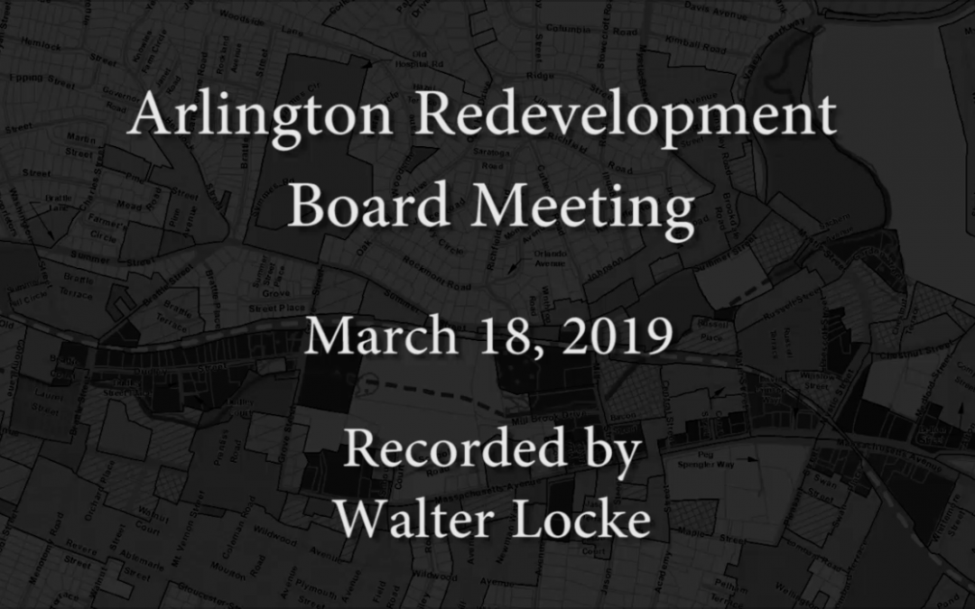 Redevelopment Board Meeting – March 18, 2019